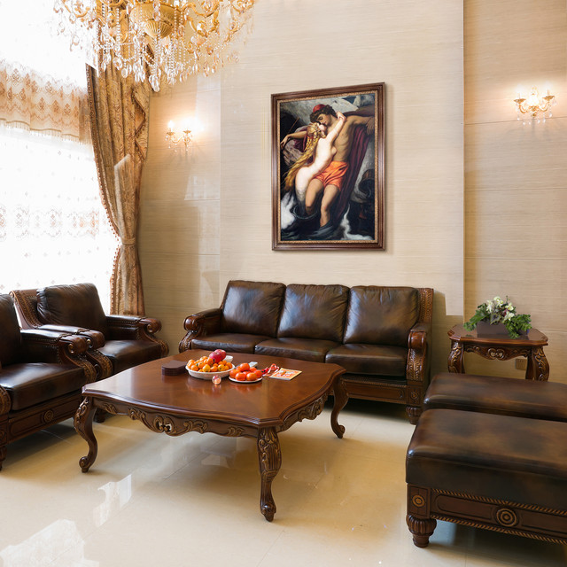 Oil Paintings For Living Rooms American Traditional Living Room