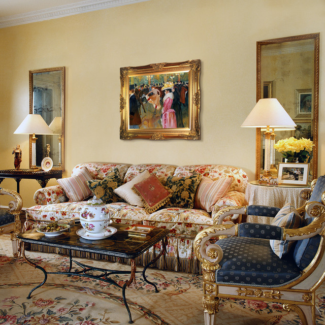Oil Paintings For Living Rooms Traditional Room