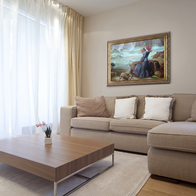 Oil Paintings For Living Rooms Modern Room Wichita By OverstockArt