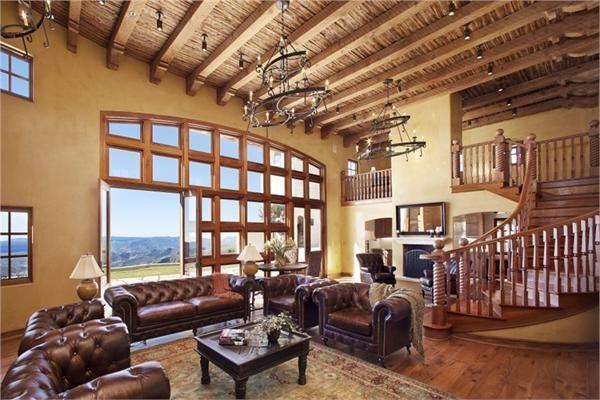Ojai Home mediterranean-living-room