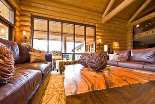Okanagan log home eclectic living room calgary by for Home decor kelowna