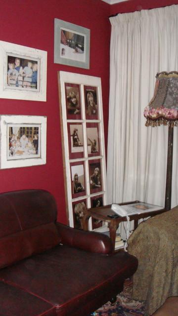 Old Door Photo Holder eclectic-living-room