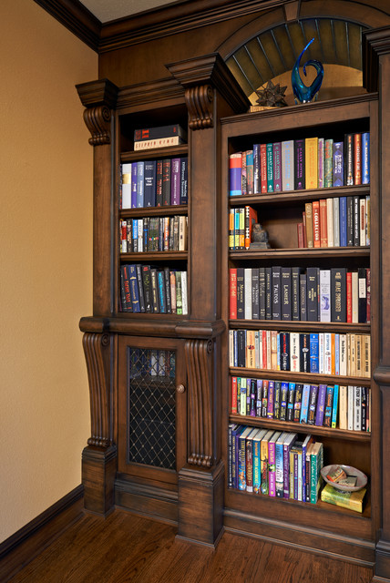 Old English Library - Traditional - Living Room - portland ...