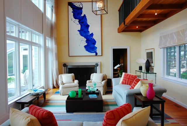 Old Greenwich Modern eclectic-living-room