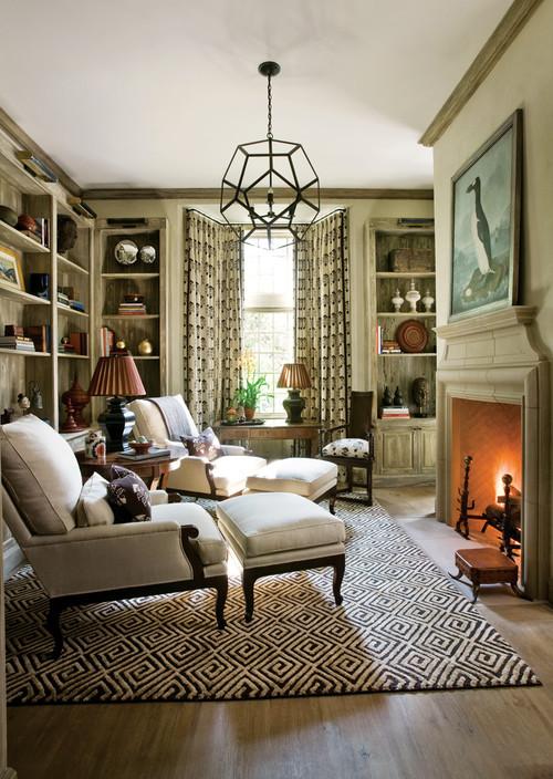 Contemporary living room setting