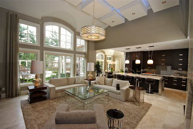 Old Oakville Open Concept Living Contemporary