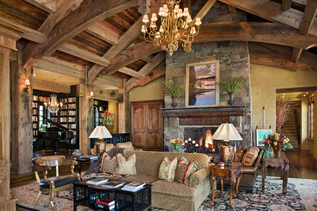 Old River Farm Rustic Living Room Other By Locati