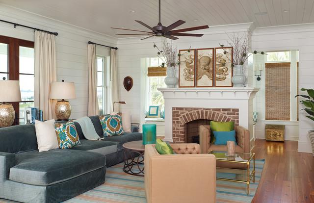 Old Village - Mt. Pleasant tropical-living-room