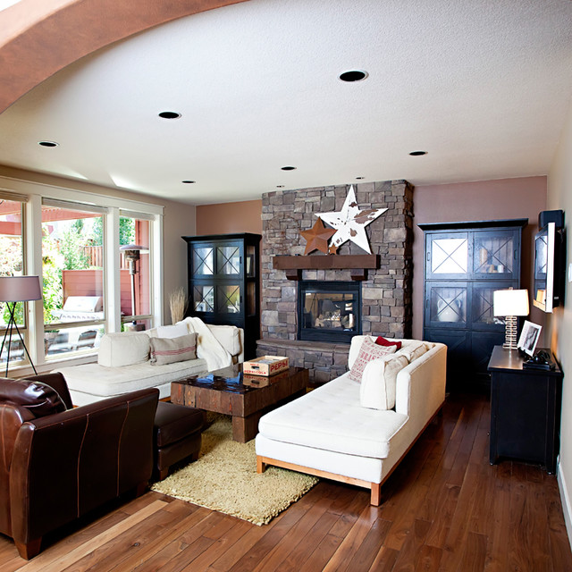 Old West Traditional Living Room Portland By