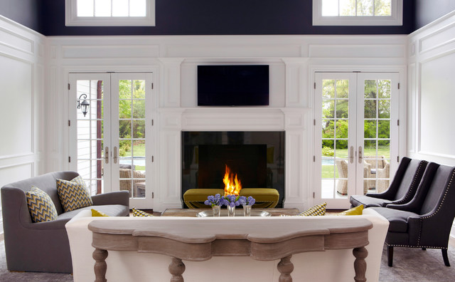 Old Westbury Neoclassical Transitional Living Room