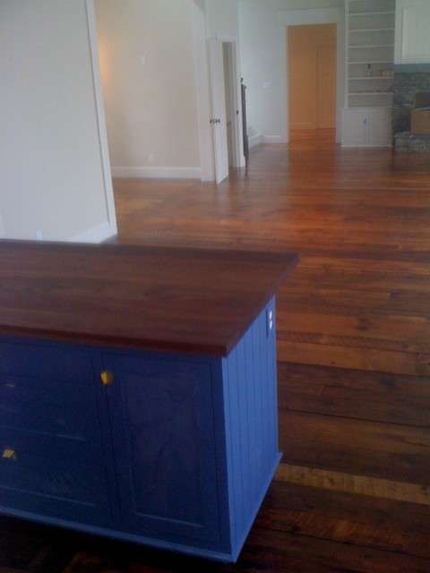 Old Wood Floor - Harpswell traditional-living-room