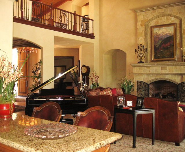 Old world eclectic traditional living room san diego for Traditional eclectic living rooms
