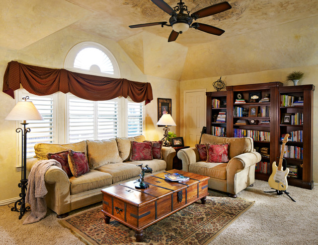 Old World Finishes in Plano Texas mediterranean-living-room