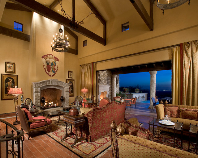 old world fountain hills mediterranean living room