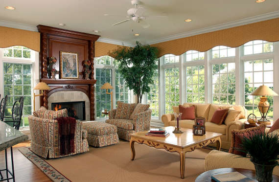 Old World traditional-living-room