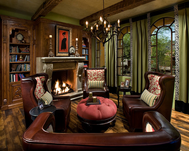 Old World Chandler Traditional Living Room Phoenix By IMI Design LLC