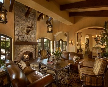 Old World Mediterranean Living Room Phoenix By