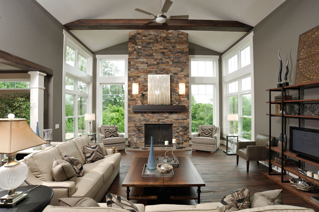 Olentangy Falls ~ Delaware, OH contemporary-living-room
