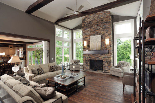 Western Paint Colors Contemporary Living Room