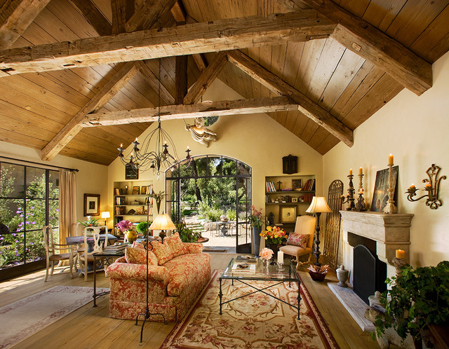 rustic living room by J. Grant Design Studio