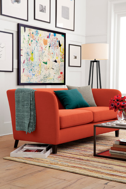 Ollie Sofa Contemporary Living Room Chicago By Crate Barrel