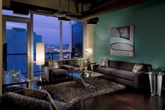 One Lexington Penthouse industrial-living-room