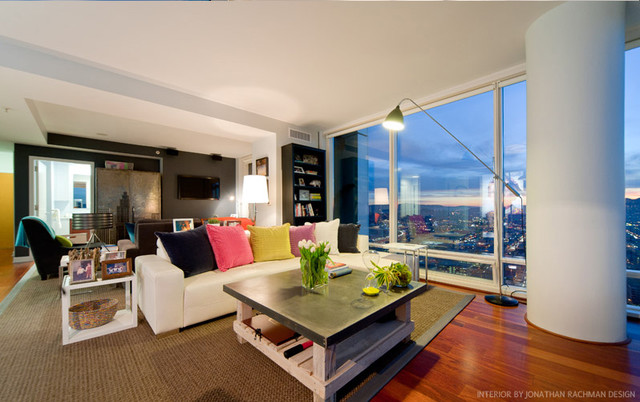 One Rincon Residential High Rise Modern Living Room