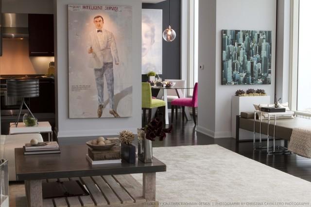 One Rincon Residential High-Rise modern-living-room