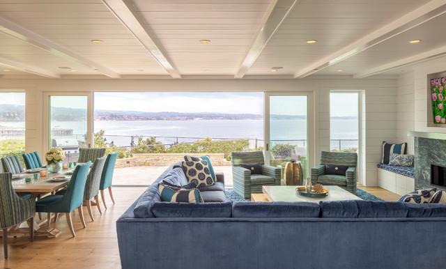 Opal Cliff Beach House Coastal Living Room