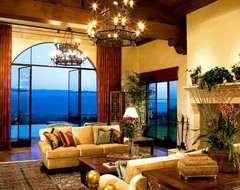 Santa Barbara Open Beam Living Room mediterranean living room
