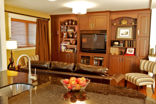 Open concept traditional living room toronto by - Open kitchen designs with living room ...