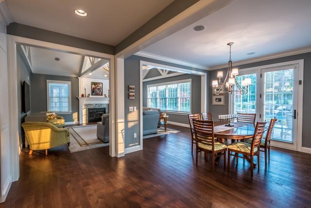 Open Concept Dining Living Room Kitchen Klassisch Modern