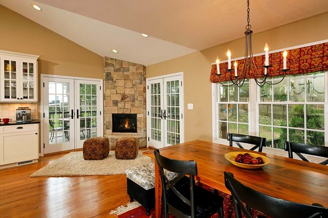 Open Concept Kitchen Dining Room Addition Becomes Hearth Of