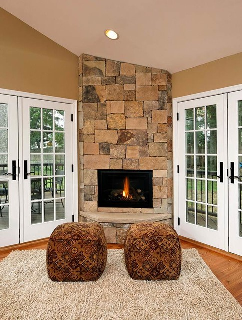 Open Concept Kitchen, Dining Room Addition Becomes Hearth of the Home traditional-living-room