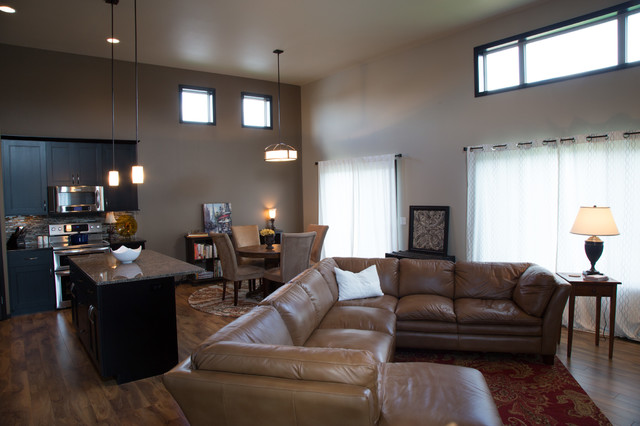 Open Concept Living Dining Kitchen Transitional Living Room Other Metro By Dabbert