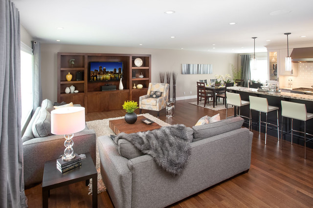 Coquitlam Family Ties - Transitional - Living Room - vancouver - by My House Design Build Team