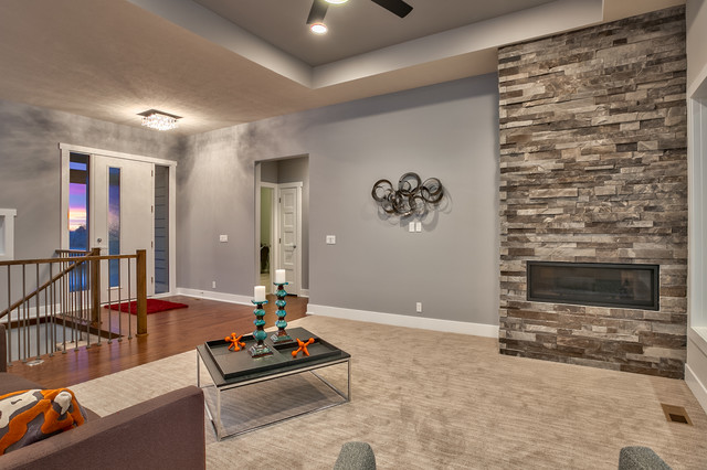 Open concept ranch modern living room omaha by for Open concept ranch homes