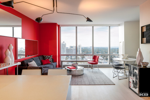 Open Kitchen Living Room Essential Modern Red Black And White Modern Living Room New