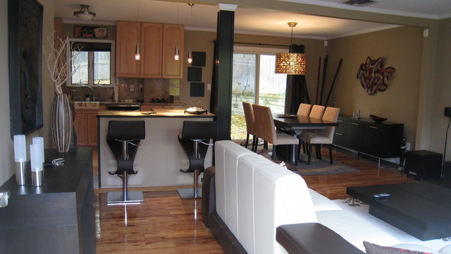 Open Layout - living, dining, kitchen
