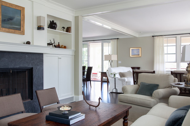 Open Living Concept Dining And Living Spaces Connecting Eclectic Living Room Boston By
