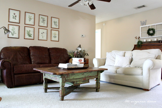 Open neutral living room traditional living room for Neutral living rooms gallery