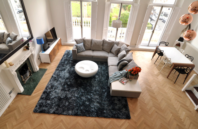Open plan living space contemporary-living-room