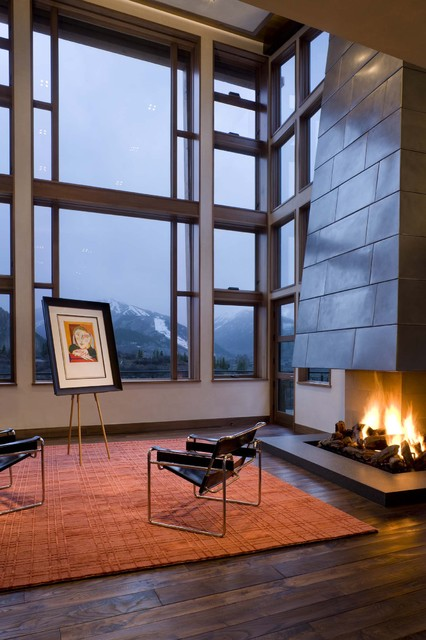 Open up to the view - Contemporary - Living Room - Denver - by Creative West Architects