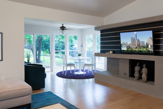 Opened Up and Made Modern in Zilker contemporary-living-room