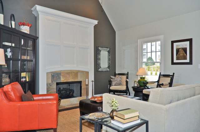 orange accent living room orange accent living room birmingham by signature homes 16224
