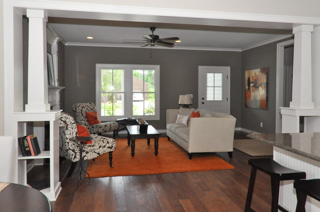 Orange and Brown - Living Room - Birmingham - by Signature Homes