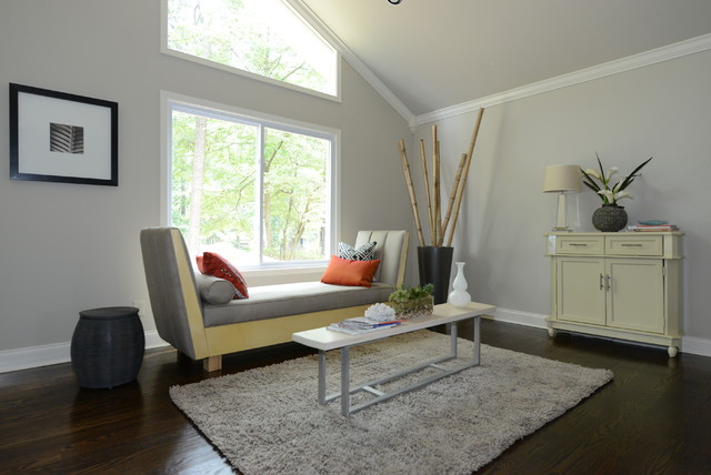 Orange Color Trend And Painting Furniture Contemporary Living Room Atlanta By Georgia