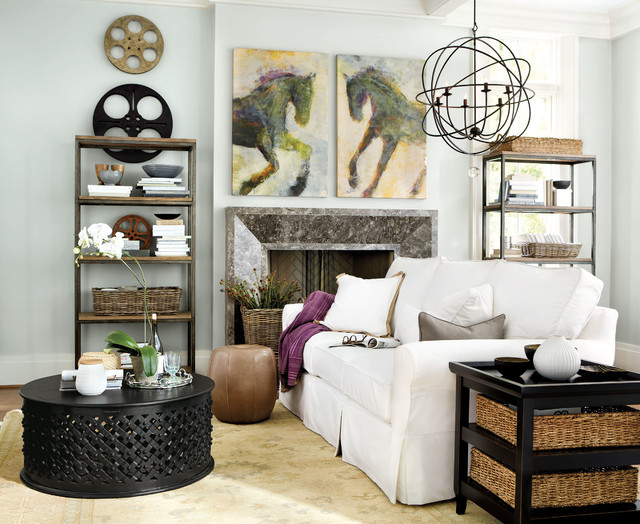 Orb Chandelier Living Room   Contemporary   Living Room ...