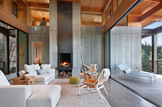 Orcas Island Retreat Contemporary Living Room Seattle By Indigo Architecture Interiors