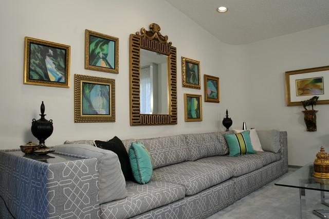 hollywood regency redo contemporary living room